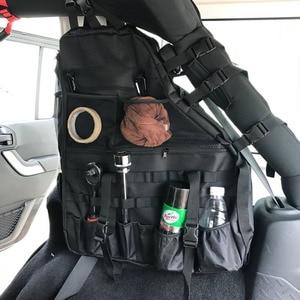 Image 5 - Chuang qian 2X stabilizator poprzeczny przechowywanie narzędzi torba wielu kieszenie Saddlebag organizatorzy Cargo dla Jeep Wrangler JK TJ LJ i nieograniczony 4 drzwi