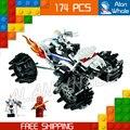 174 шт. 2016 Бела 9730 Ninja Nuckal ATV Строительные Блоки Модель Игрушки Кай DX мальчики Кирпичи Совместимость С Lego