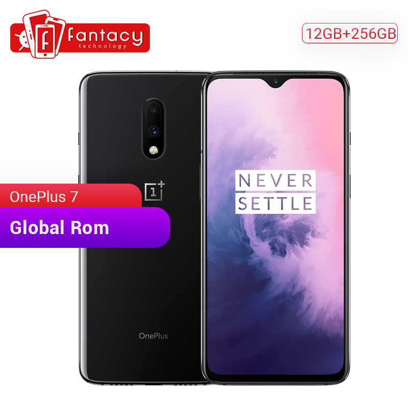 Gloabl rom oneplus 7 12 gb ram 256 gb rom smartphone snapdragon 855 6.41 Polegada amoled display digital 48mp câmeras ufs 3.0