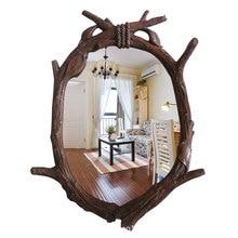 46 см x 62 Европейский Сад Ретро ванная комната зеркало дерево зеркало навесное декоративные настенные, декоративные, для зеркала
