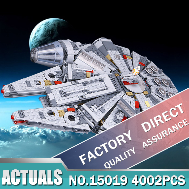 LEPIN 05007 New Star Set Wars Lepin Millennium Falcon Toys Educational building blocks Kids Wars Toy Compatible 10467 color metal 3d puzzle star wars millennium falcon for adult 2016 new batman flying wing kylo ren shuttle 3d nano jigsaw puzzles