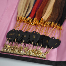 100% Remy Human Hair Color Rings Color Chart / Hair Extension Tools/Hair Accessory