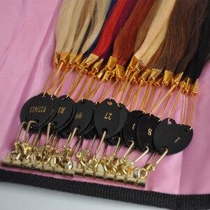 Anneaux de couleur des cheveux Remy 100% naturels | Graphique des couleurs/outils d'extension de cheveux/accessoire pour cheveux