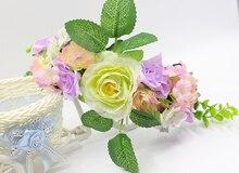 Летние новые 6 цветок свежий пляж Головные Уборы Декор Волос Венок цветок глава орнамент невесты невесты аксессуары для волос венок