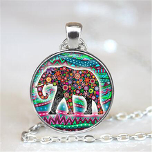 Lucky Elephant Statement Necklace 2016,Elephant Picture Pendant Choker Necklace, Good Luck Charm  Elephant Jewelry HZ1