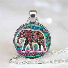 Lucky Elephant Statement Necklace 2016,Elephant Picture Pendant Choker Necklace, Good Luck Charm  Elephant Jewelry HZ1
