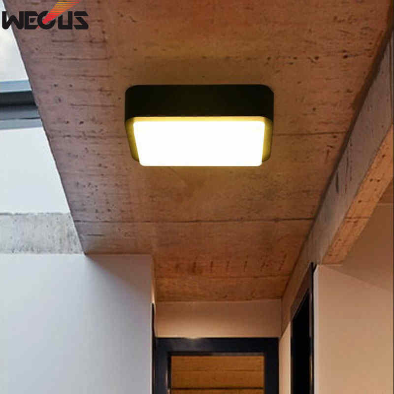 (WECUS) Outdoor Moisture/Anti-mosquito Ceiling Light, LED Villa Courtyard Corridor/Balcony/Aisle/Bathroom/Kitchen Ceiling Light