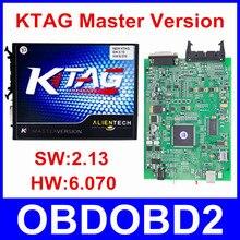 Mejor Calidad V2.13 V6.070 Hardware Maestro Versión K-TAG Ktag K TAG No Tokens Herramienta de Programación ECU 6 Tipos Idiomas DHL envío