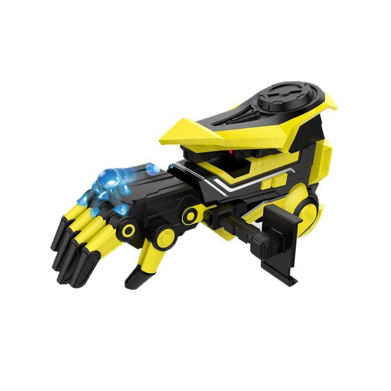 Pistolet à eau en plastique jaune jouet AR Smart électrique rechargeable balle jouet pistolet modifiable mécanique bras modèle pistolet jouets outil