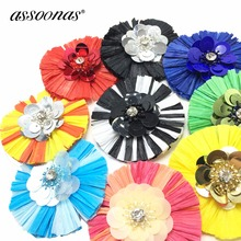 hot deal buy assoonas l150,5.5cm,raffia tassel,jewelry accessories,jewelry making,accessories parts,earrings pendants,hand made,sequin flower