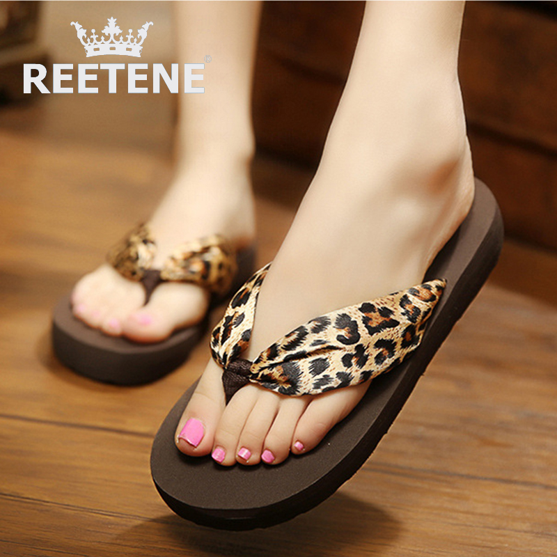 Summer Silk Flower Women Sandals flip flops Beach Shoes Light Weight Wedges Explosion Models Slippers - REETENE store