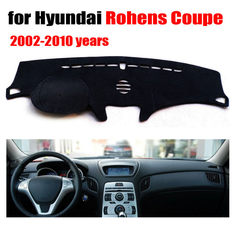 RKCA Car dashboard covers mat for Hyundai Rohens Coupe 2002-2010 Left hand drive  pad dash cover auto dashboard accessories