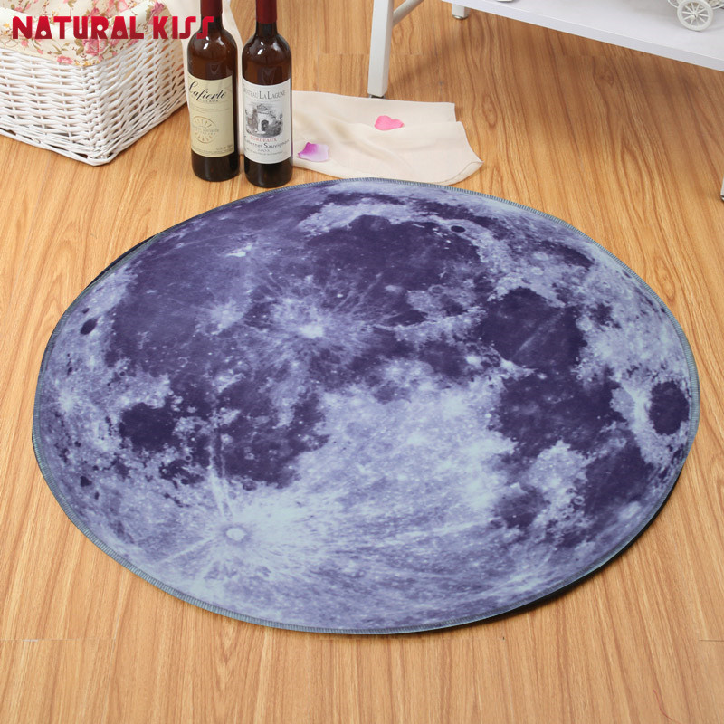 Universe Outer Space Themed Children Round Play Carpet Rug
