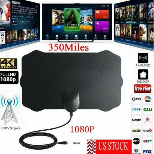 New 350 Miles Digital Antenna Clear TV Free HD 1080P Signal Booster TV Antenna