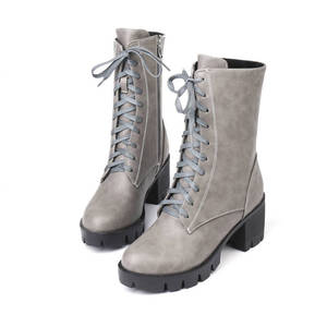 Image 3 - MORAZORA 2020 new style ankle boots for women round toe autumn winter boots zipper lace up platform boots punk shoes woman