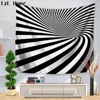 Lzl Hogar 3d Impreso Poliester Moderno Tapices Rayas Abstracta - Tapices-de-pared-modernos