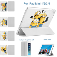 MTT For IPad Mini 1 2 3 Case Minions Take Photo Fold Stand Case Cover With
