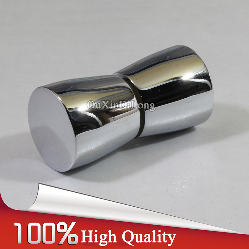 HOT 2PCS 304 Stainless Steel Shower Bathroom Door Handle House Ornamentation Door Hardware Locks Glass Door Mini Knobs & Handles rose gold 180 degree hinge open 304 stainless steel glass shower door hinges for home bathroom furniture hardware hm155