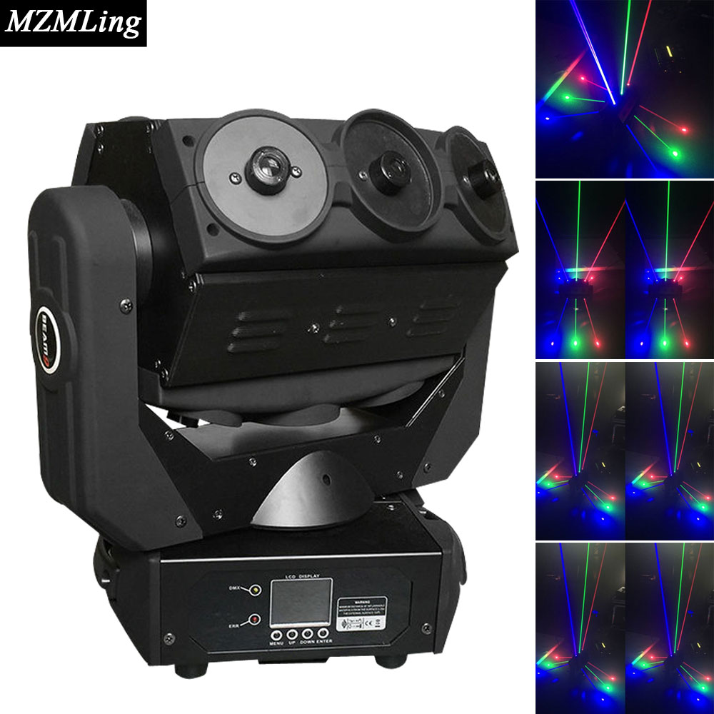9x0.5w RGB LED Laser Light DMX512 Spider Light Moving Head Light DJ /Bar /Party /Show /Stage Light LED Stage Machine 9 moving head laser spider light green color 50mw 9 triangle spider moving head light laser dj light disco club event