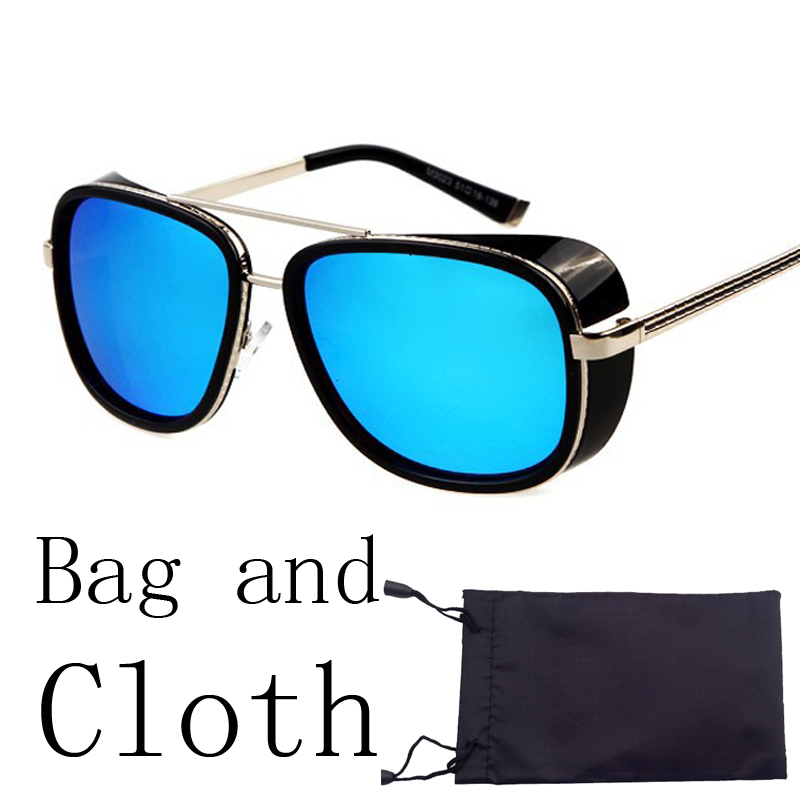 Iron Man 3 Matsuda TONY stark Sunglasses Men Rossi Coating retro Vintage Designer Sun glasses Oculos