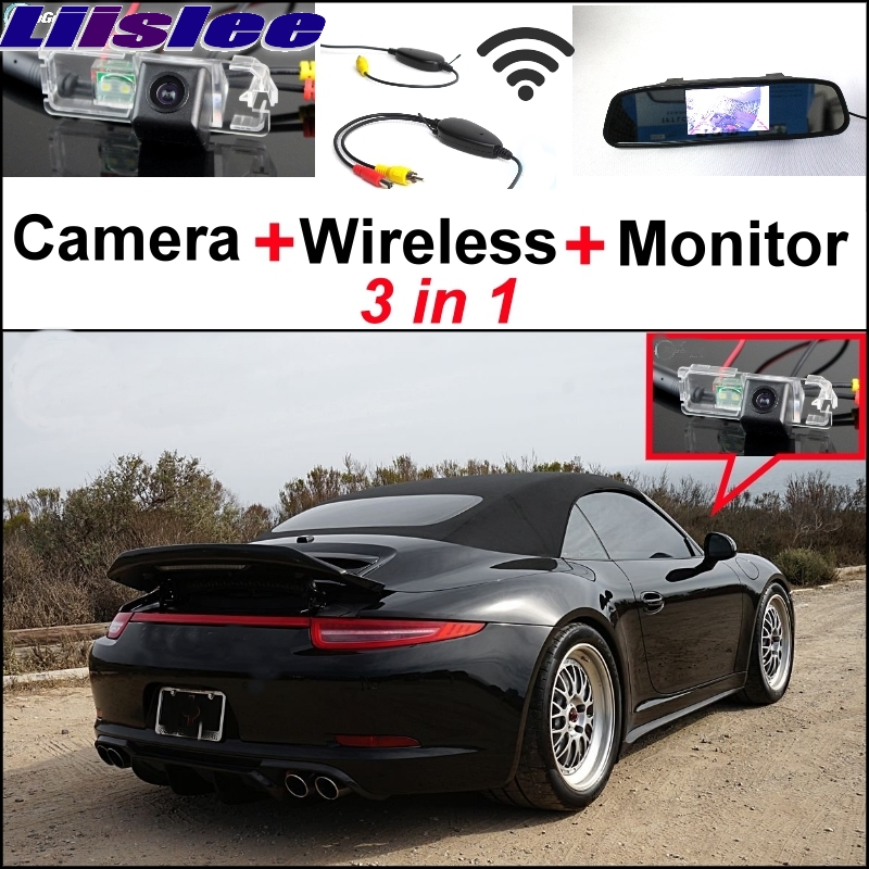 Liislee Special Wifi Camera Wireless Receiver + Mirror Monitor Parking System For Porsche 996 997 991 Carrera 911 Turbo GT2 GT3 колодки тормозные hb581b 660 hawk street 5 0 brembo 6 поршней тип j n porsche 911 997 3 8 gt3