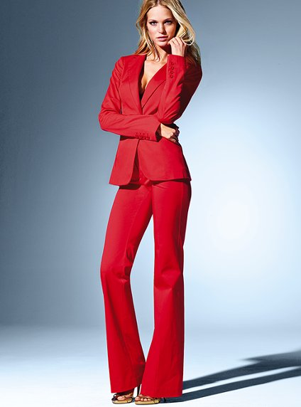 Women Business suits formal office suitsCustom made Red OL Long Sleeve women tops suits Jacket +Pants