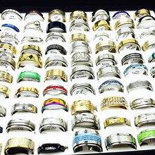 Mixmax 卸売ロットバルク 100 個女性リングセットステンレス鋼のカップルの結婚式バンドメンズジュエリーパーティーギフトドロップシッピング