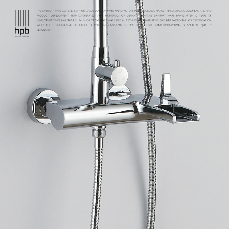 HPB Waterfall Shower Set Hot And Cold Water Shower Faucet With ...