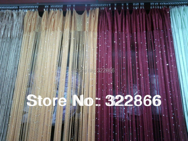 Free Shipping  16 Colors Sequins Shining String Curtain, String Panel, Room  Divider 300cmX300cm