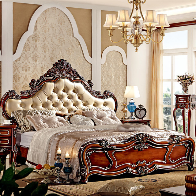 Elegant Bedroom Furniture Sets: Aliexpress.com : Buy European Style Luxury King Size