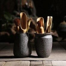 TANGPIN coffee and tea tool rust-glazed ceramic tea ceremony sets vintage chinese kung fu tea accessories tangpin coffee and tea tool copper tea strainers handmade copper tea filters kung fu tea accessories sets