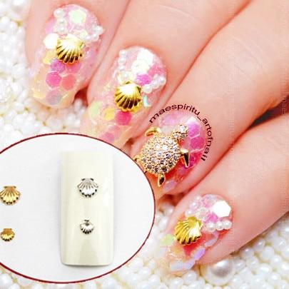 Aliexpress buy 20pcs 3mm5mm shiny mini metal shell design 20pcs 3mm5mm shiny mini metal shell design 3d nail art studs uv gel nail prinsesfo Choice Image