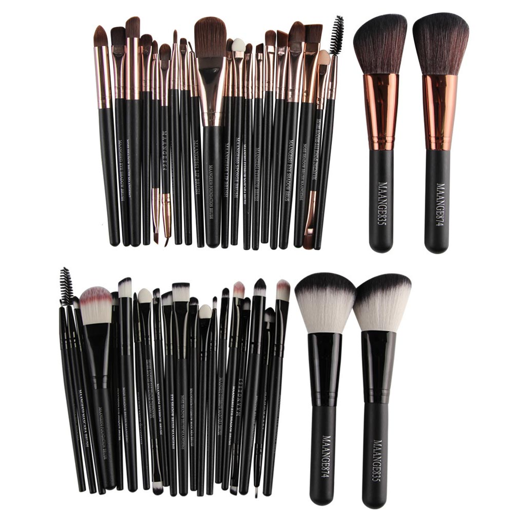 Hot 22 Pcs/Set Professional Makeup Brush Set Blusher Eyeshadow Powder Foundation Eyebrow Lip Cosmetic Brushes Tool Kits SSwe professional 22pcs cosmetic makeup brushes set blusher eyeshadow powder foundation eyebrow lip make up brush kit