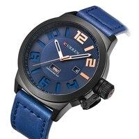 2018 New CURREN 8270 Top Brand Luxury Watch Men Date Display Fashion Casual Men Leather Quartz