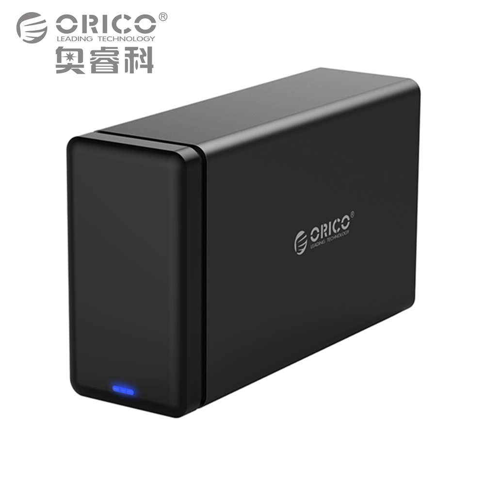 ORICO 2 Bay Aluminum Hard Drive HDD Dock Enclosure USB3.0 to SATA3.0 3.5 in HDD Case Support UASP 12V4A Power MAX 20TB Capacity sata usb 3 0 hdd3 5 wifi extender hdd bay hdd enclosure sata interface aluminum nas enclosure rj45 wifi router repeater hdd case
