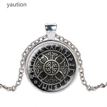Norway Valknut pagan symbol amulet Pendant Men Jewelry Necklace Viking Scandinavian Odin of Nordic Viking Warrior
