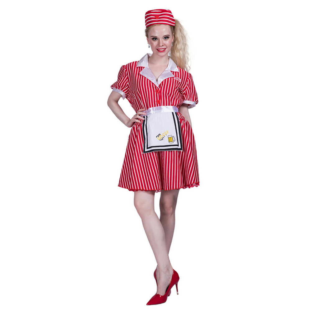 Women Sexy Restaurant Cocktail Waitress Maid Costume Dress Cosplay ...