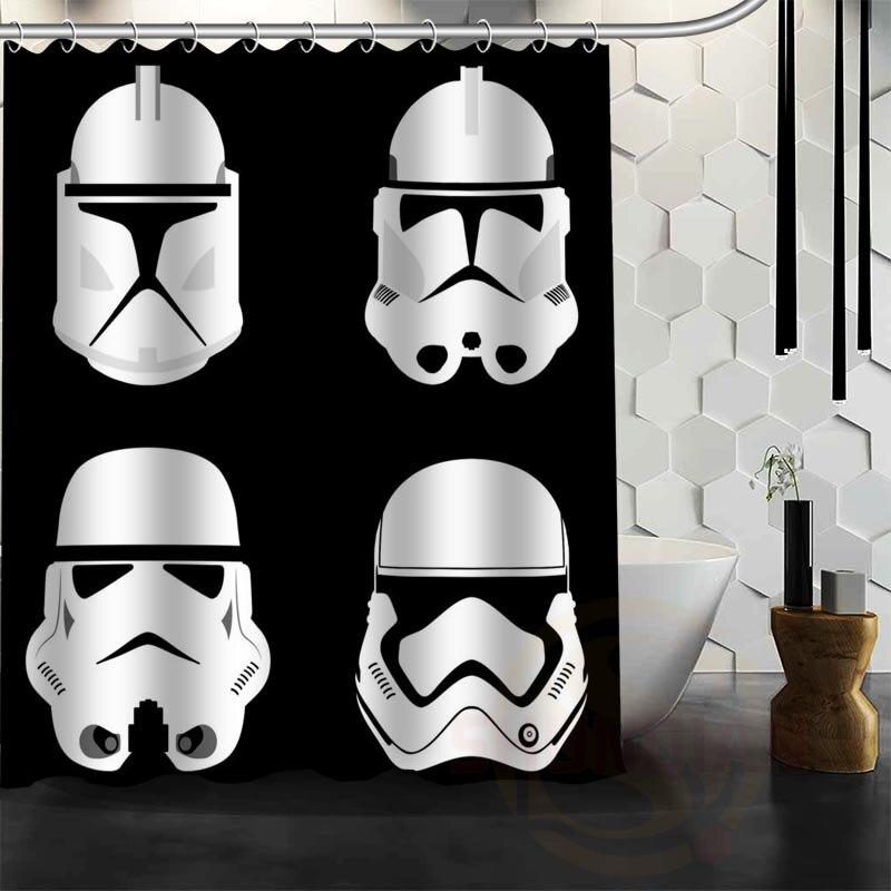 Best Nice Custom Star Wars Shower Curtain Bath Curtain Waterproof Fabric For Bathroom MORE SIZE WJY#70