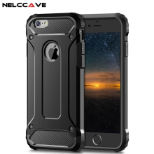 Luxury Hybrid Tough Rugged Armor Case For Apple iPhone 8 7 Plus 6 6S 5 5S SE Phone Hard PC Silicone Shockproof Cover