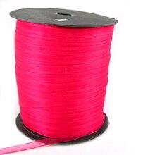 Cinta de Organza, rojo, 6mm de ancho, 500yd/rollo