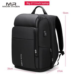 Image 5 - Mark Ryden hombres mochila multifunción USB de carga de 17 pulgadas portátil bolso de gran capacidad impermeable bolsas de viaje para los hombres
