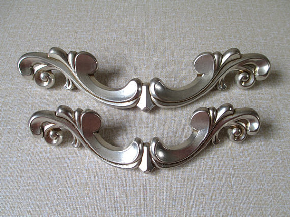 Large Dresser Drawer Pulls Handles Antique Silver Rustic Cabinet Handles Door Handle Decorative Furniture Cupboard Hardware