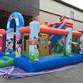KK Factory jumping castle inflatable bouncer combo, Kids cartoon printing artwork combo slide