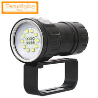 SecurityIng QH18 Diving Flashlight Underwater 120W 12000Lumen LED Diving Flashlight 80m Diving Light for Video Fill Light