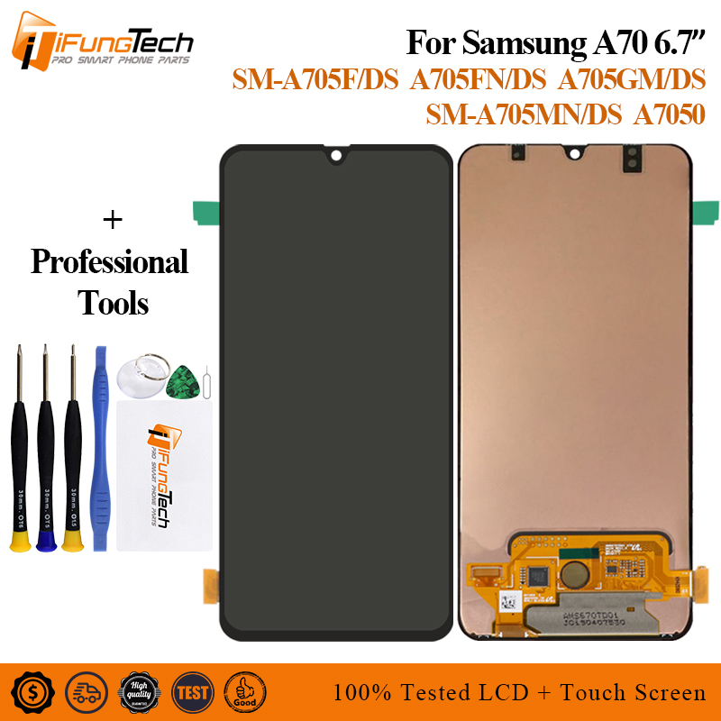 For <font><b>Samsung</b></font> Galaxy <font><b>A70</b></font> <font><b>LCD</b></font> A705 A705F SM-A705F Display Touch Screen Digitizer Assembly <font><b>A70</b></font> 2019 For <font><b>SAMSUNG</b></font> <font><b>A70</b></font> <font><b>LCD</b></font> A705DS image