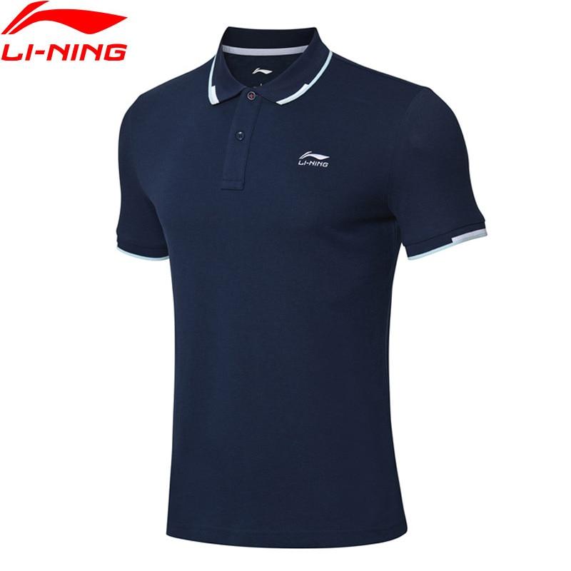 Sportbekleidung Li-ning Männer Der Trend Sport Polo Atmungsaktive 60% Baumwolle 40% Polyester Regelmäßige Fit Futter Sport T-shirt T Aplp005 Jfm19 Attraktive Mode Trainning & Übung Polo
