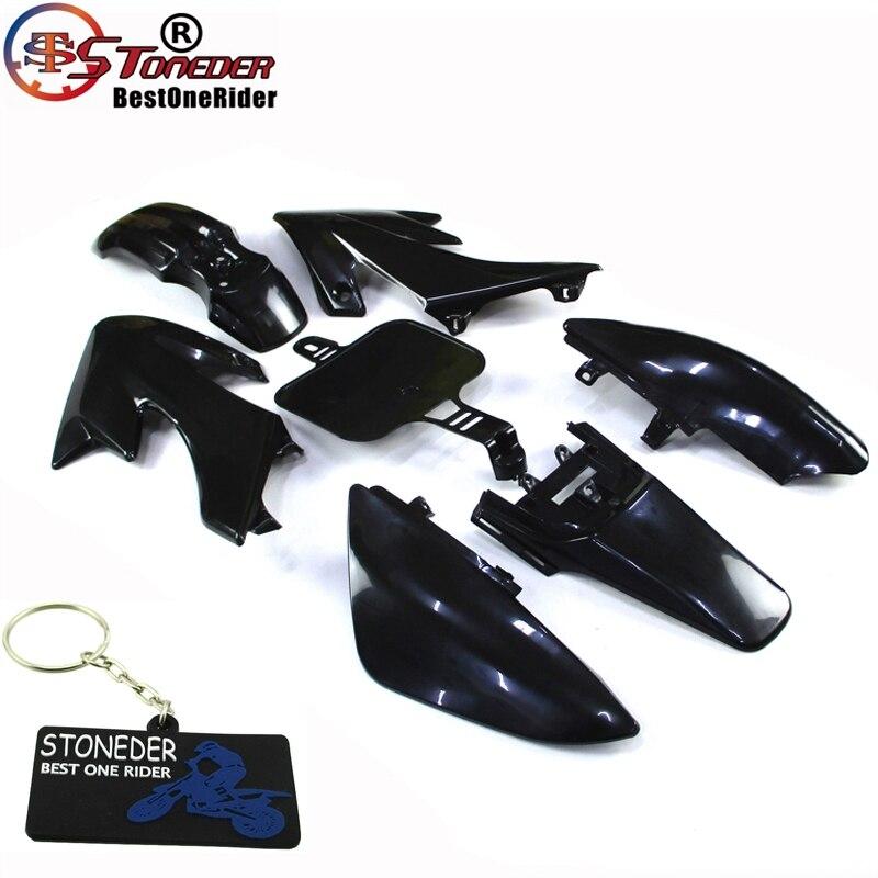 Race-Guy White Strength Plastic Fairing Body Cover Kits For Honda XR50 CRF50 Piranha SSR Thumpstar Stomp Coolster Pitsterpro Braaap SDG GPX DHZ CRF50 XR50 50cc 70cc 90cc 110cc 125cc 140cc 150cc 160cc Dirt Pit Bike