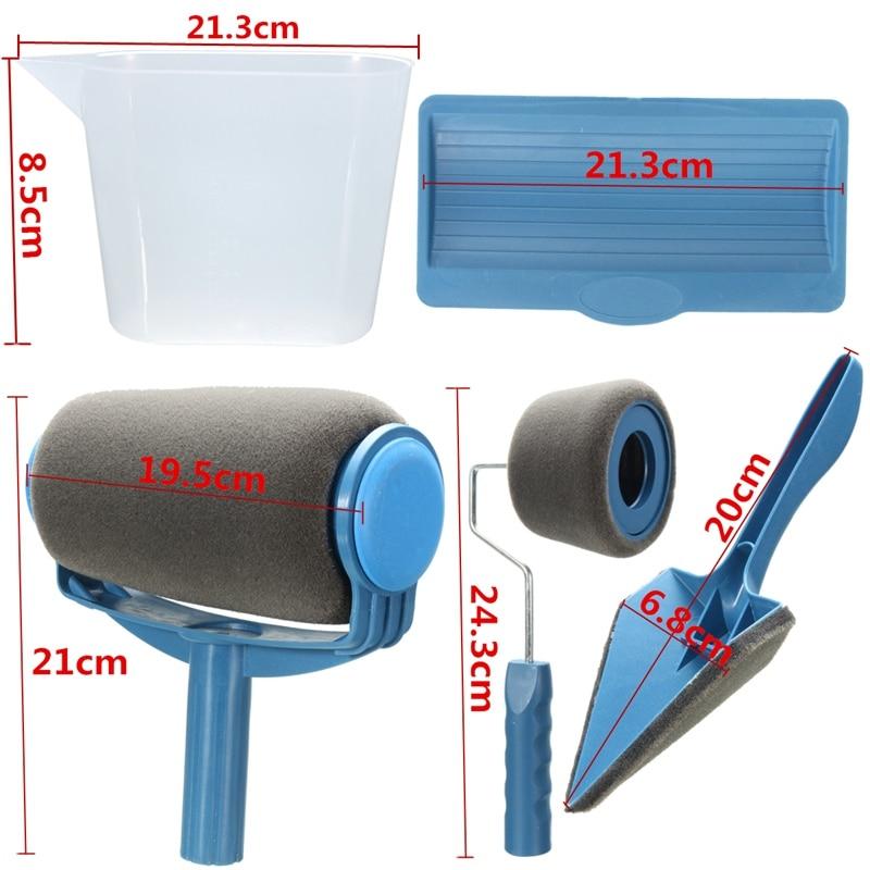 Practical 5 PCS DIY Roller Brush Paint Roller Kit Office Room Wall Painting Hand Tools Roller Paint Brush Runner for Home Use бесплатная доставка diy kit tps71550qdckrq1 ic reg ldo 5 в 50ma sc70 5 71550 tps71550 10 шт