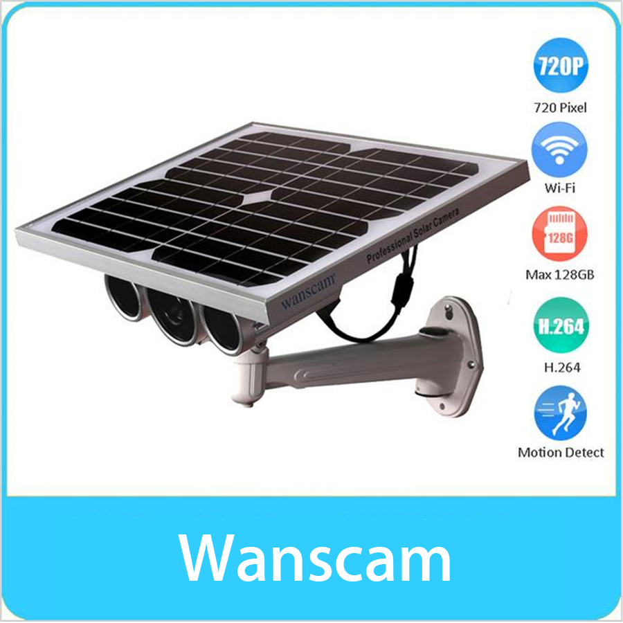 WANSCAM Solar Power Camera P2P Wifi Waterproof HD H.264 ONVIF IR Infrared Motion Detection Camera Support Solar Power & Battery цены