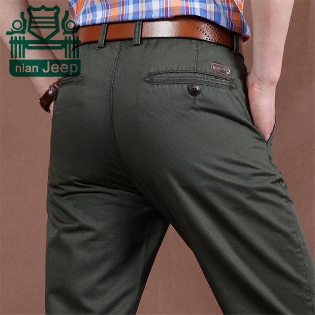 Nian AFS JEEP Wholesale Price High Quality Men's Thick Pure Cotton Solid Pant,Straight Military Casual Cotton Pant Men Plus Size